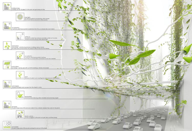 Proposta Bio-City faz crescer grandes vinhas para eliminar contaminação no futuro, Bio City / Jakub Fiszer, Piotr Pyrtek & Tomasz Salamon