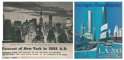 New York in 1962, Mayor Robert Wagner's Predictions; and LA's predictions from 1988 for 2013