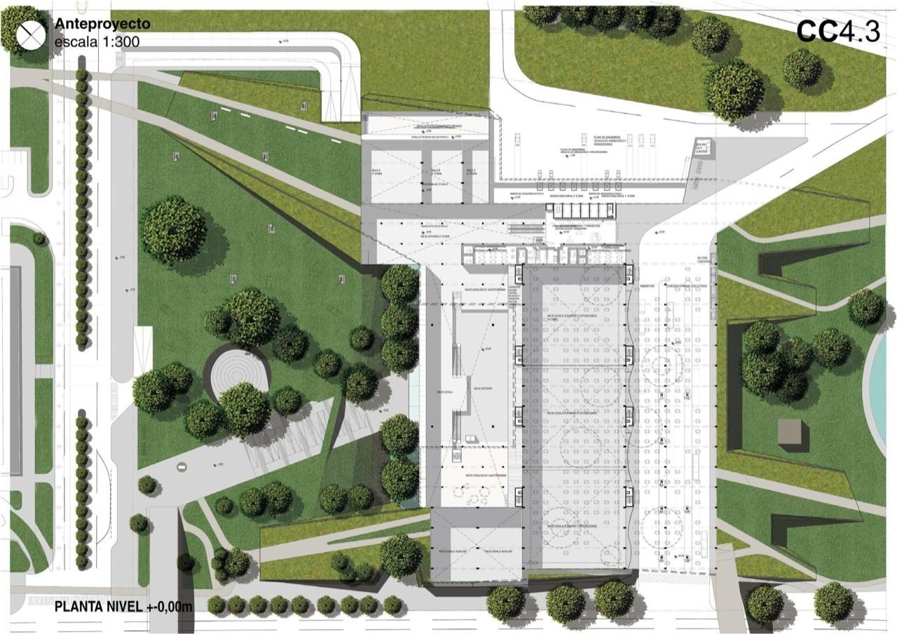 Galer a de primer lugar concurso parque centro de for Plantas ornamentales para parques