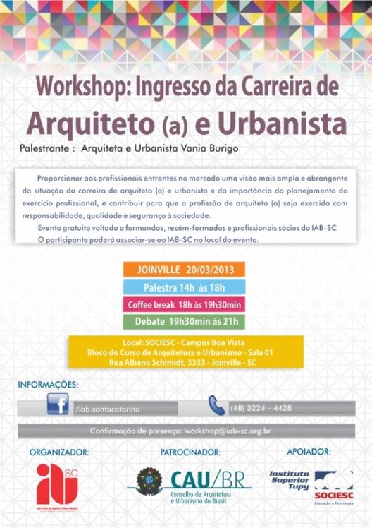 Workshop: Ingresso da Carreira de Arquiteto(a) e Urbanista