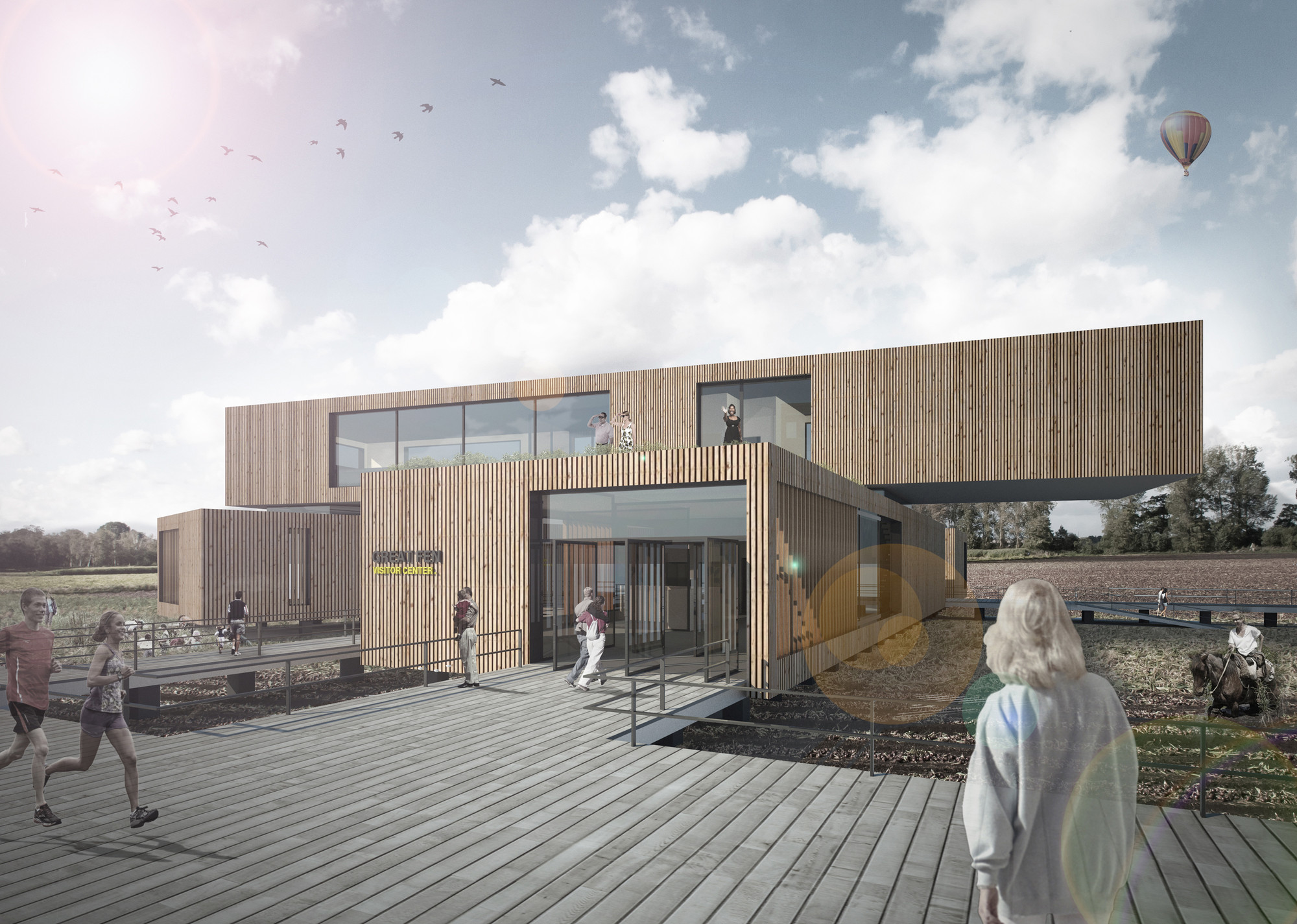 Great Fen Visiting Center Competition Entry / Alexandros Avlonitis + Aggeliki Anagnostopoulou