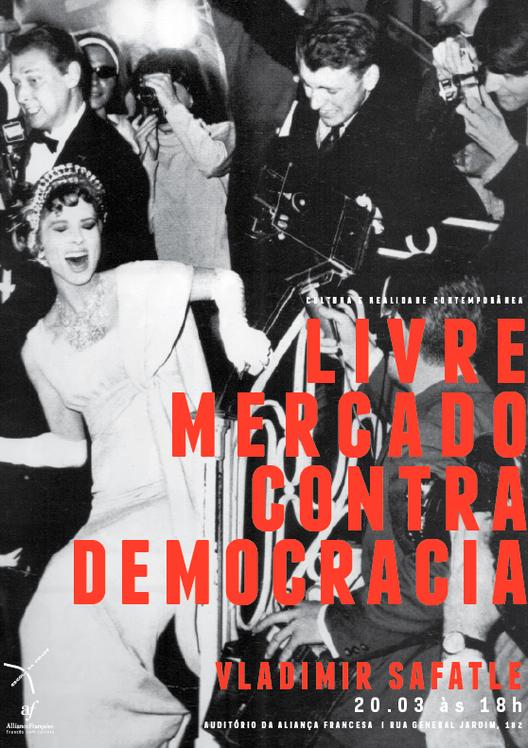 """Seminário """"Livre mercado contra democracia"""" por Vladimir Safatle, Courtesy of Escola da Cidade"""