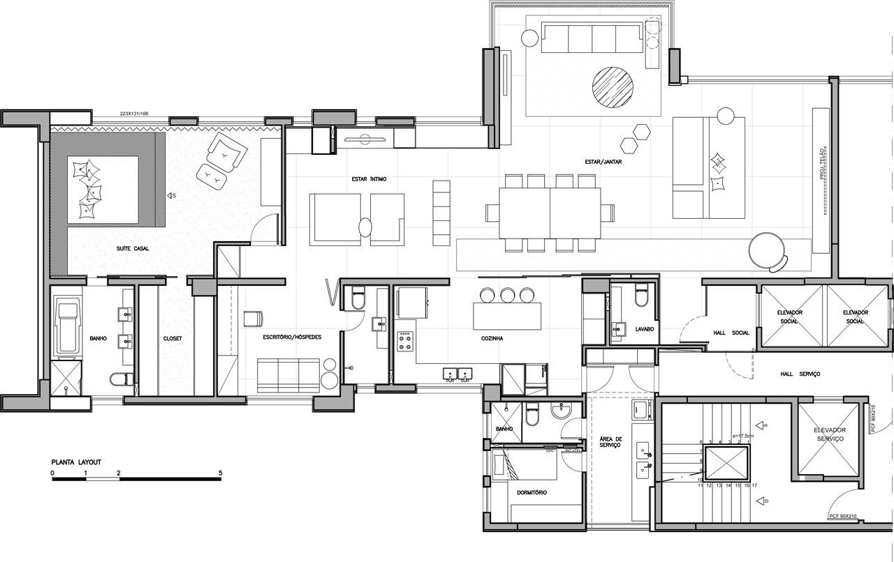 Plan Furniture Layout Galeria De Apartamento No Vale Do Sereno Gema