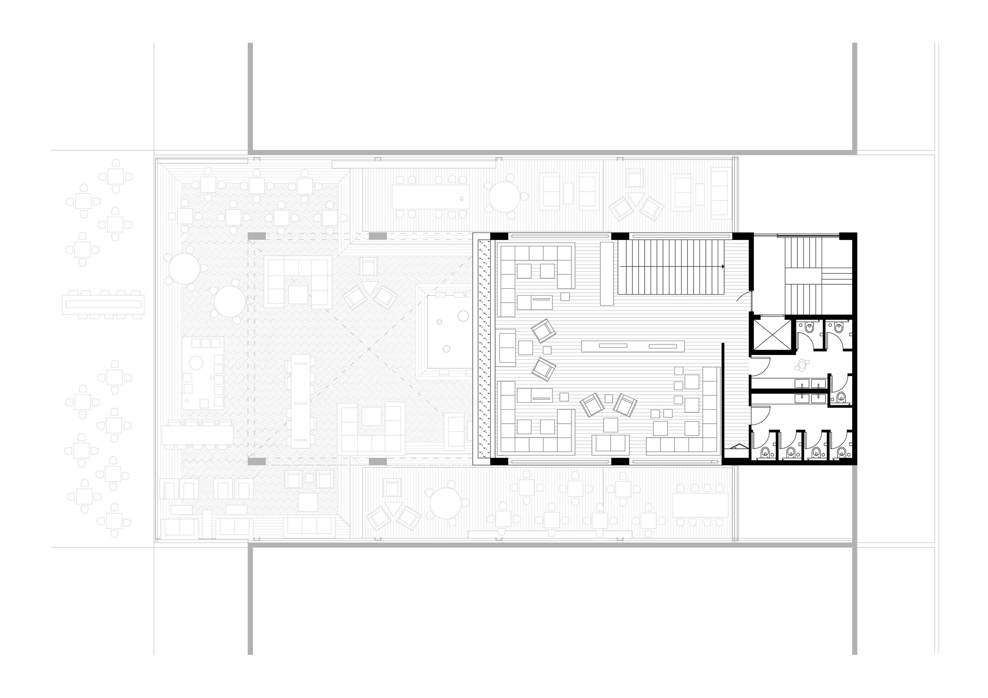 Gallery of coffee shop 314 architecture studio 7 for Coffee shop floor plan with dimensions