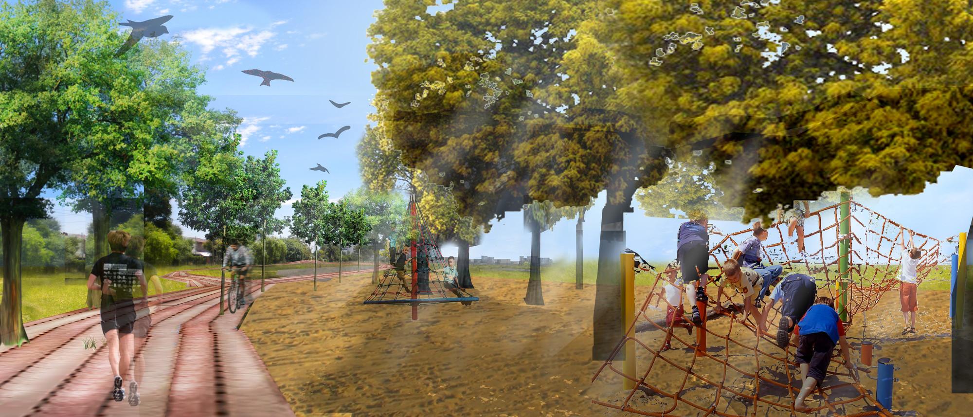 Tercer Lugar Concurso Parque Lineal Quilmes Plataforma Arquitectura