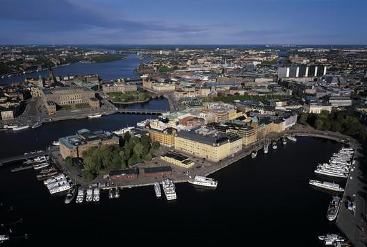 Blasieholmen at Nybroviken in Stockholm. Image ©Jeppe Wikström
