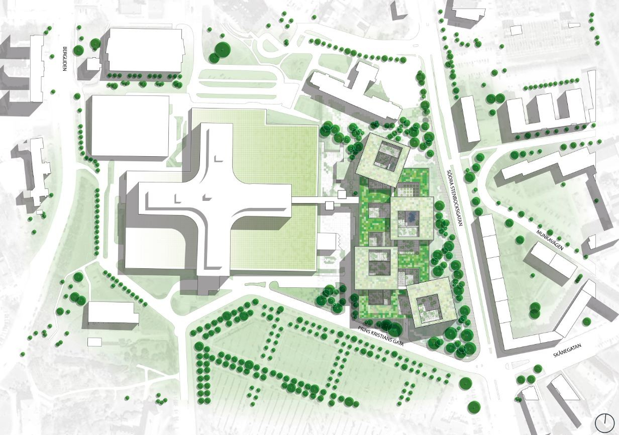 Gallery of helsingborg hospital extension winning proposal for Architecture sites
