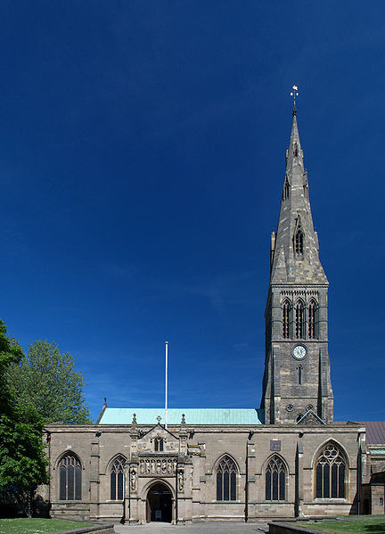 Leicester Cathedral via Wikimedia Commons