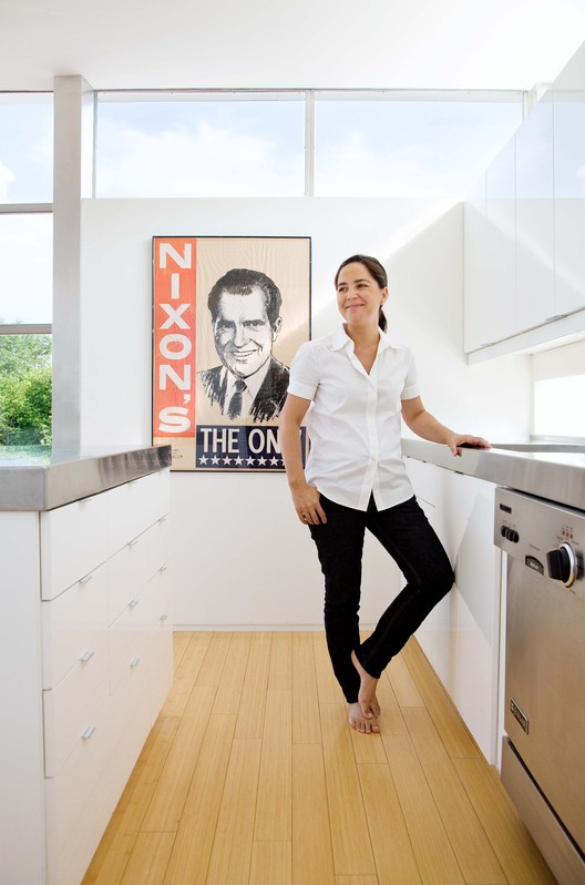 An Interview with Rocio Romero, Pre-Fab Pioneer, Rocio Romero in her LV home in Missouri. Image © Ashley Gieseking