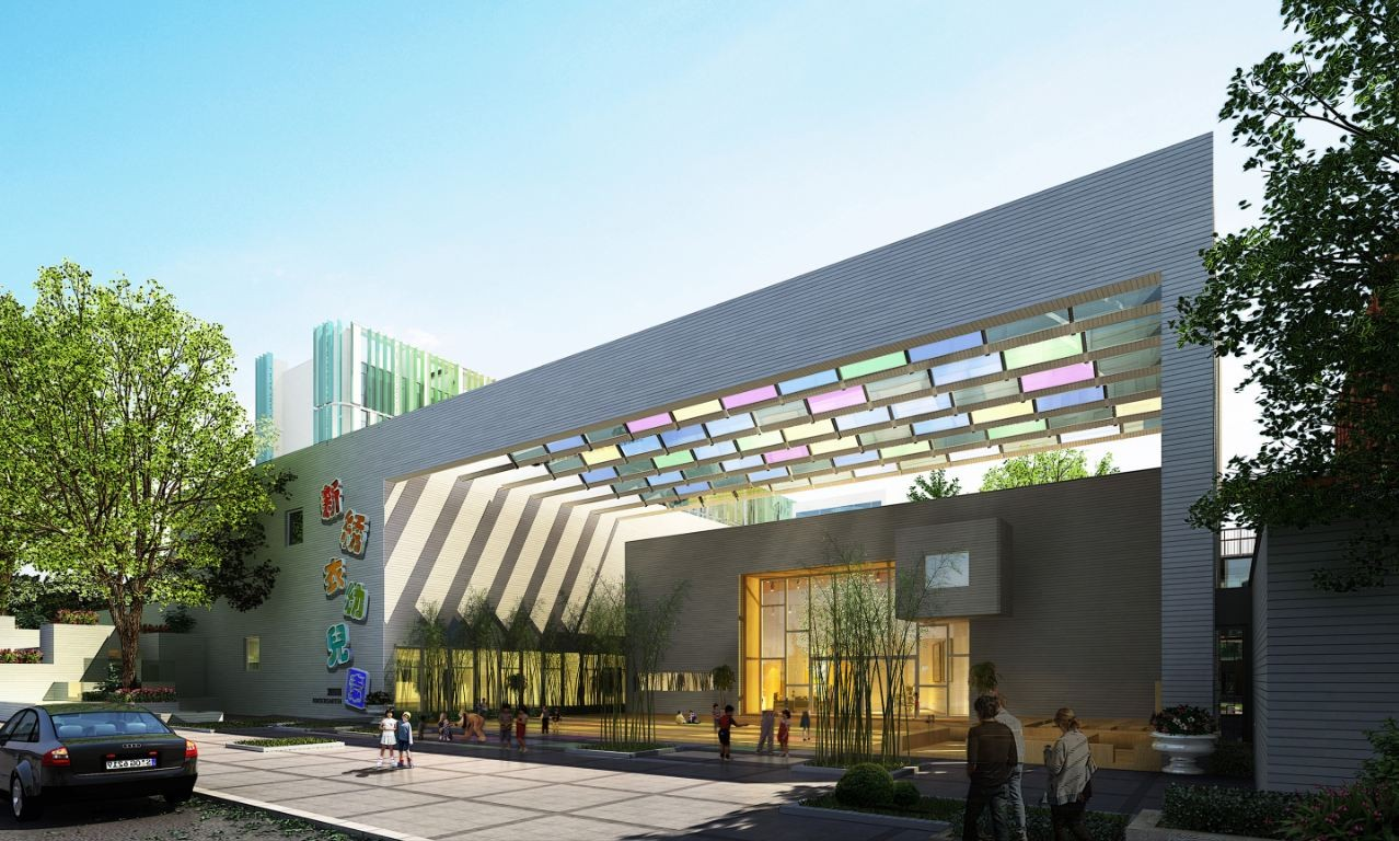 Interior Column Designs New Xiuyi Kindergarten Proposal Studio 7 Of Urban