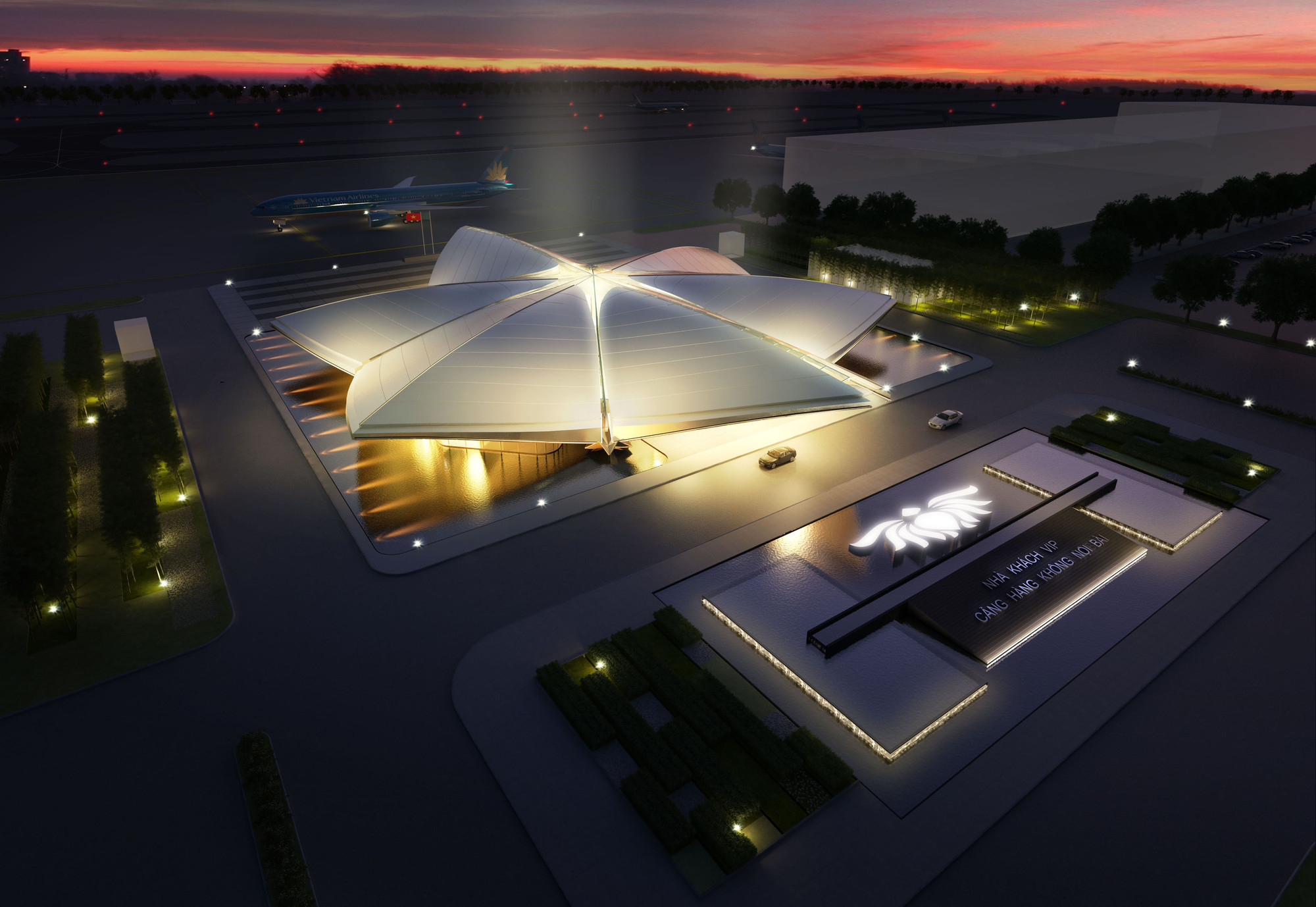 Hanoi's Noi Bai International Airport VIP Terminal Winning Proposal / CPG Consultants, Courtesy of CPG Consultants