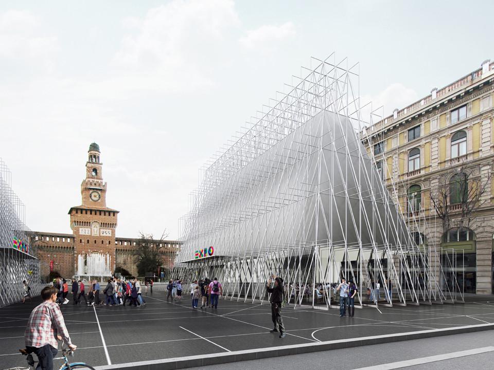 Milano EXPO 2015 Info Point Winning Proposal / Scandurrastudio, Courtesy of Scandurrastudio