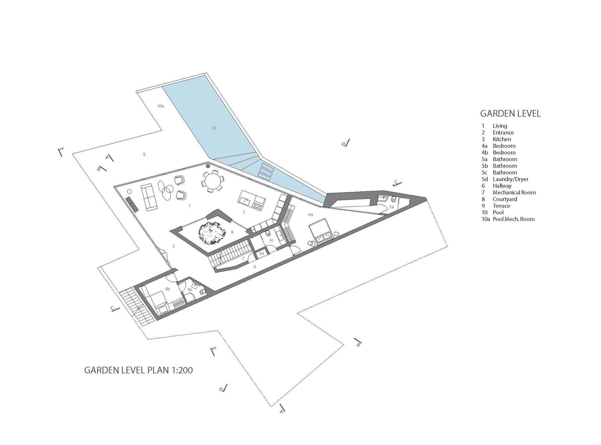 Hebil 157 Houses,Garden Floor Plan