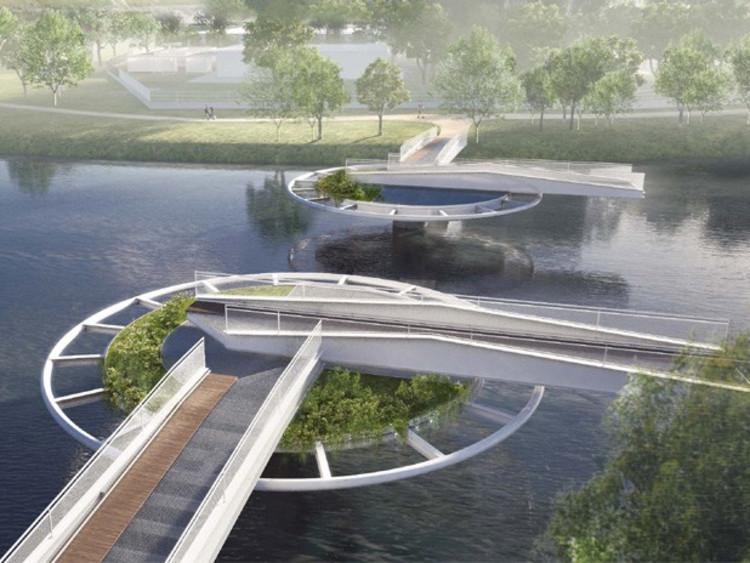 Marginal Pinheiros de São Paulo terá nova ciclovia e ponte móvel, Imagem que ilustra o funcionamento da ponte móvel. Via http://www.mobilize.org.br