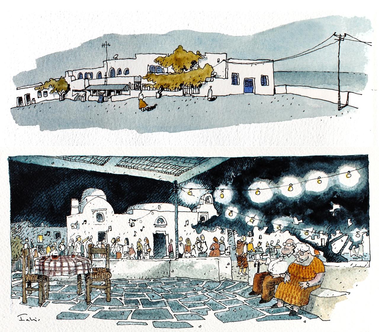 Arte y Arquitectura: Il Senso delle Cose, Ilustraciones por Fabio Barilari