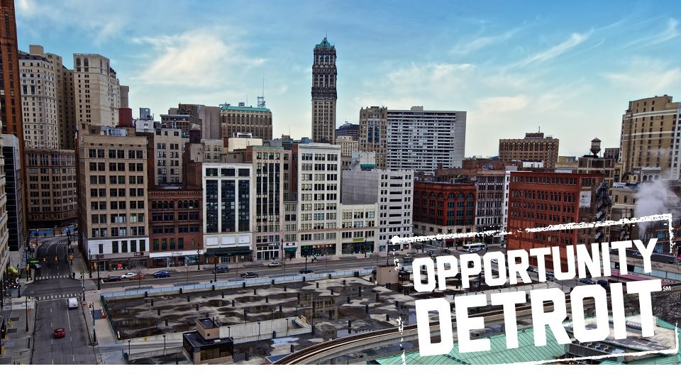 Redesigning Detroit: A New Vision for an Iconic Site, © via Opportunity Detroit