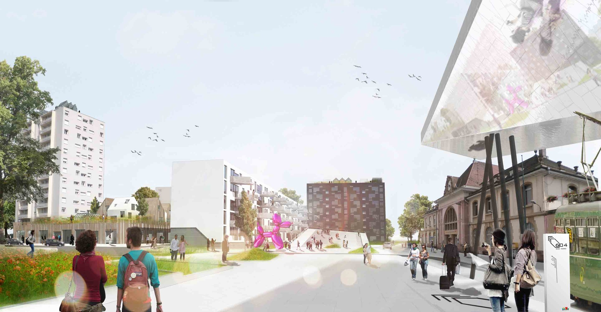 Das Band meiner Stadt (The Band of My City) Winning Proposal / da architecture, © da architecture