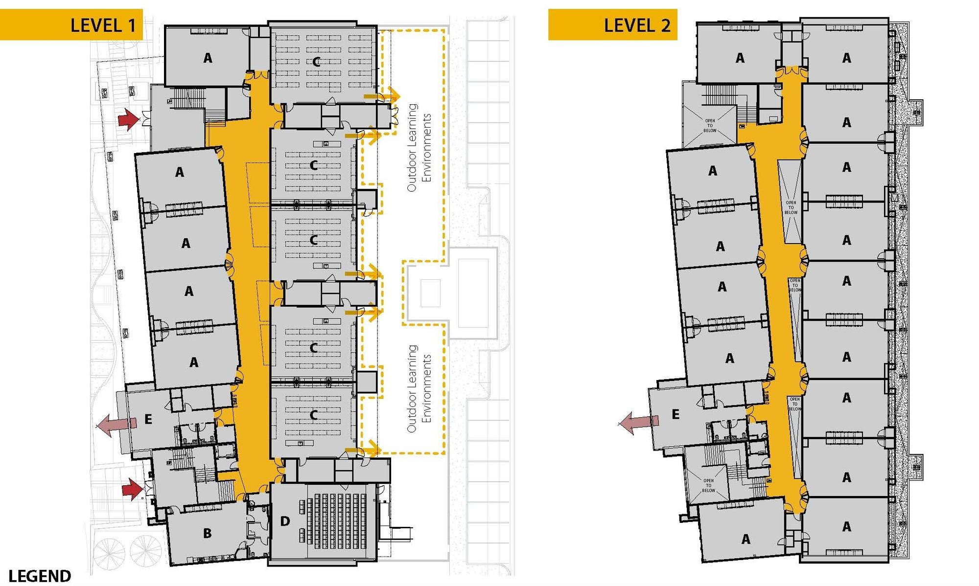 High School Classroom Design Layout ~ Edison high school academic building darden architects