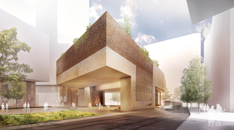 Green Square Library & Plaza Proposal / Gus Wüstemann Architects, Courtesy of Gus Wüstemann Architects