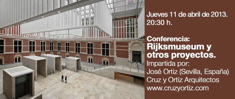 Conferencia Rijksmuseum y otros proyectos / José Ortiz