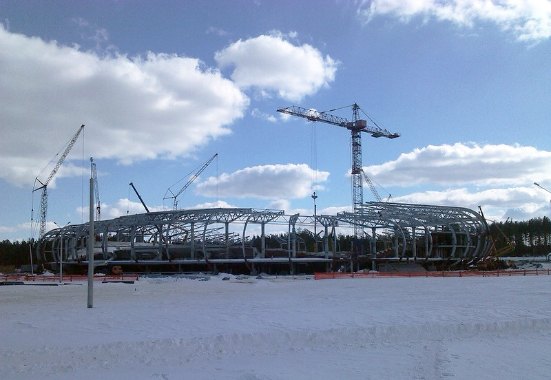 In Progress: FC Bate Borisov Football Stadium / OFIS, Courtesy of OFIS