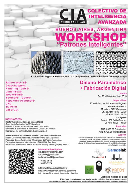 """Workshop """"Patrones Inteligentes"""" / Diseño Paramétrico y Fabricación Digital [¡Sorteamos un Cupo!]"""
