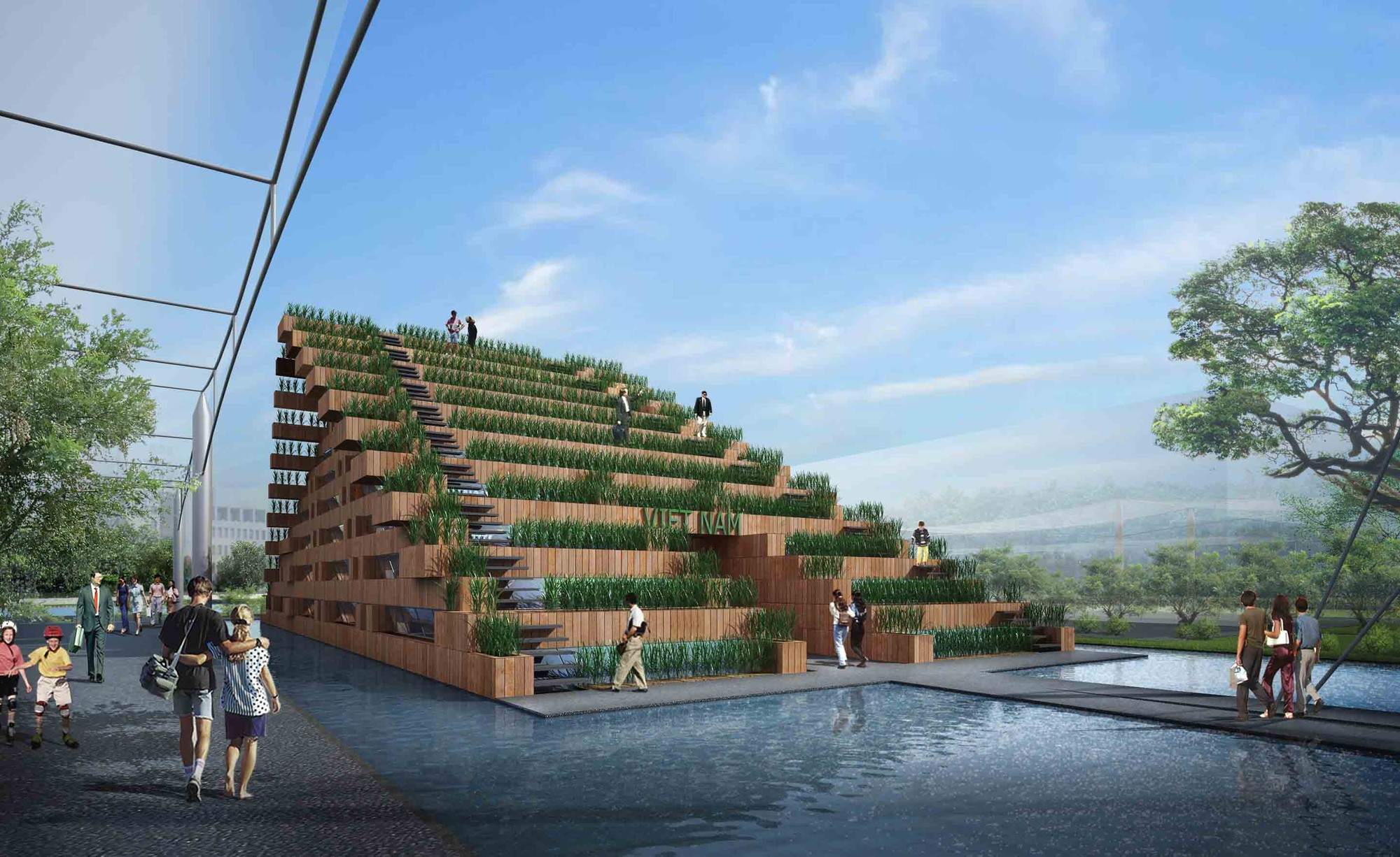 Vietnam's Pavilion at Expo 2015 Competition Entry / H&P Architects, Courtesy of H&P Architects