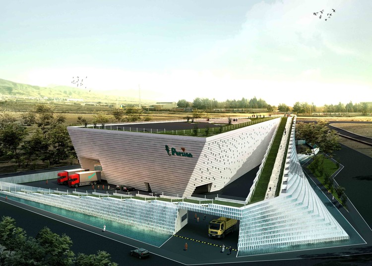 Persian Factory Second Prize Winning Proposal / Hooba Design Group, Courtesy of Hooba Design Group