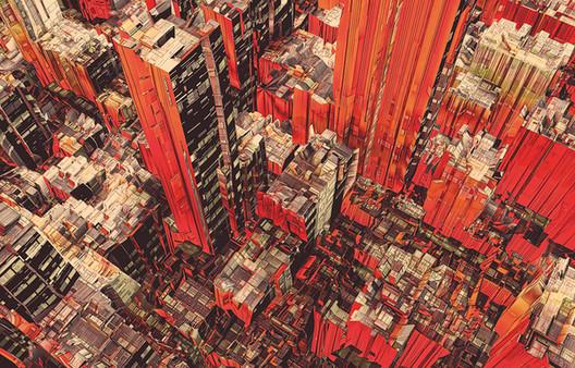 """Arte y Arquitectura: """"Cities and Plants"""", Ilustraciones de Atelier Olschinsky, © Atelier Olschinsky"""
