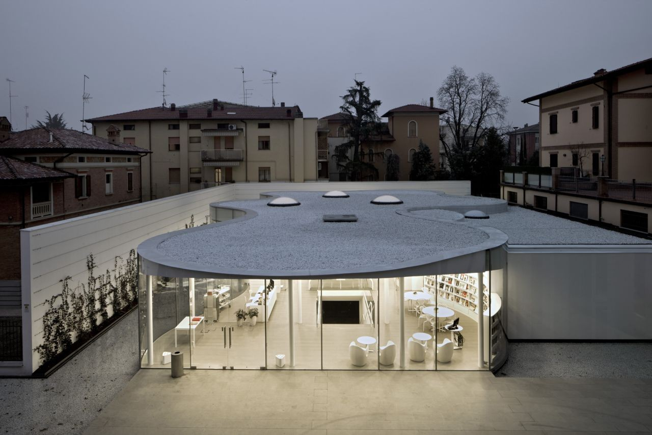 Maranello Library / Andrea Maffei Architects, Courtesy of Andrea Maffei Architects