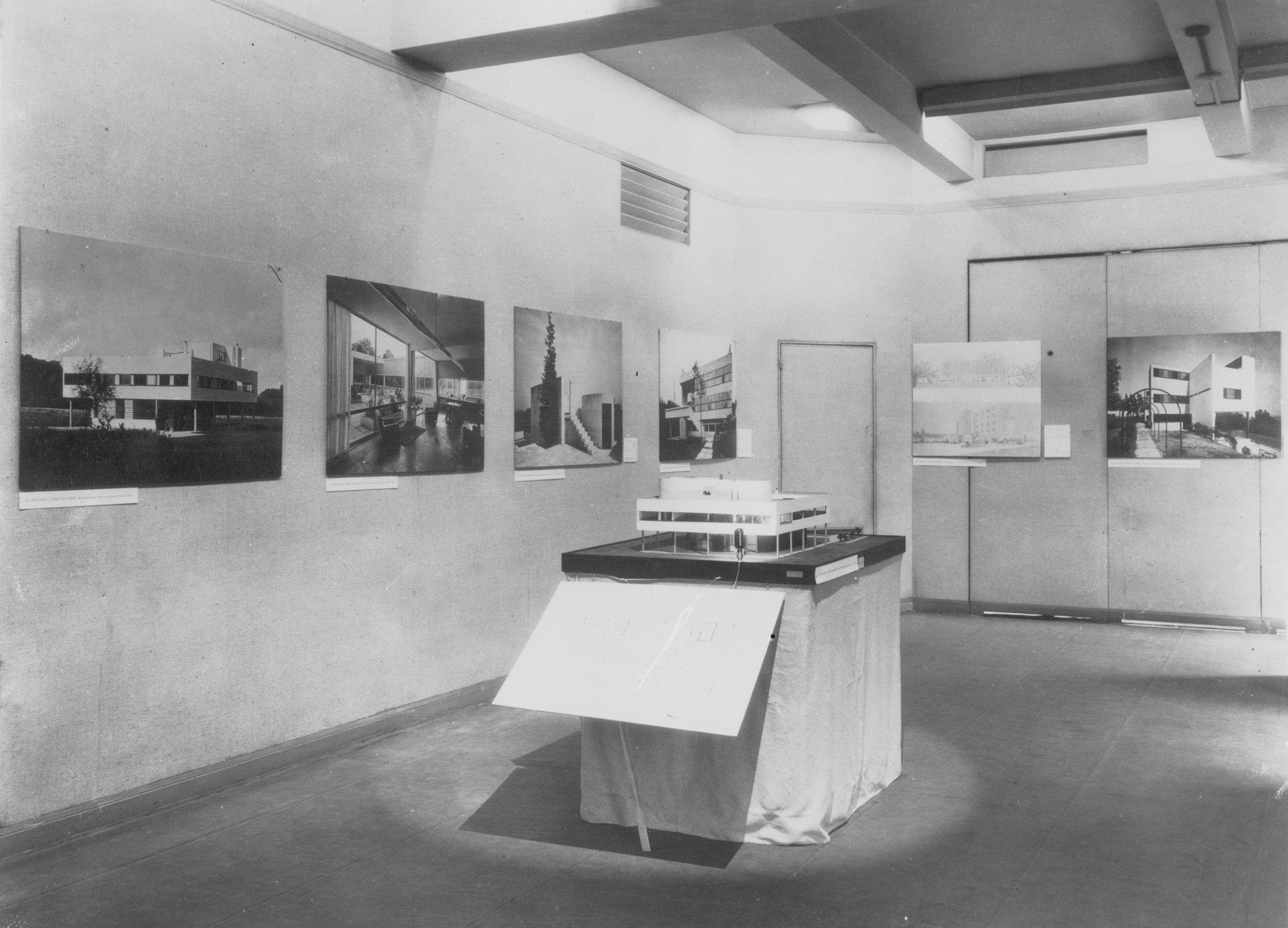 Out of Site in Plain View: A History of Exhibiting Architecture since 1750, Model of Le Corbusier's Villa Savoye from Modern Architecture: International Exhibition [MoMA Exh. #15, February 9-March 23, 1932] Photo: Modern Architecture, International Exhibition. 1932. The Museum of Modern Art, New York. Photographic Archive.