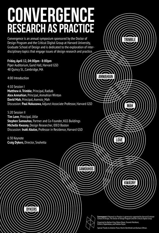 'Research as Practice' Symposium, Courtesy of Harvard Graduate School of Design