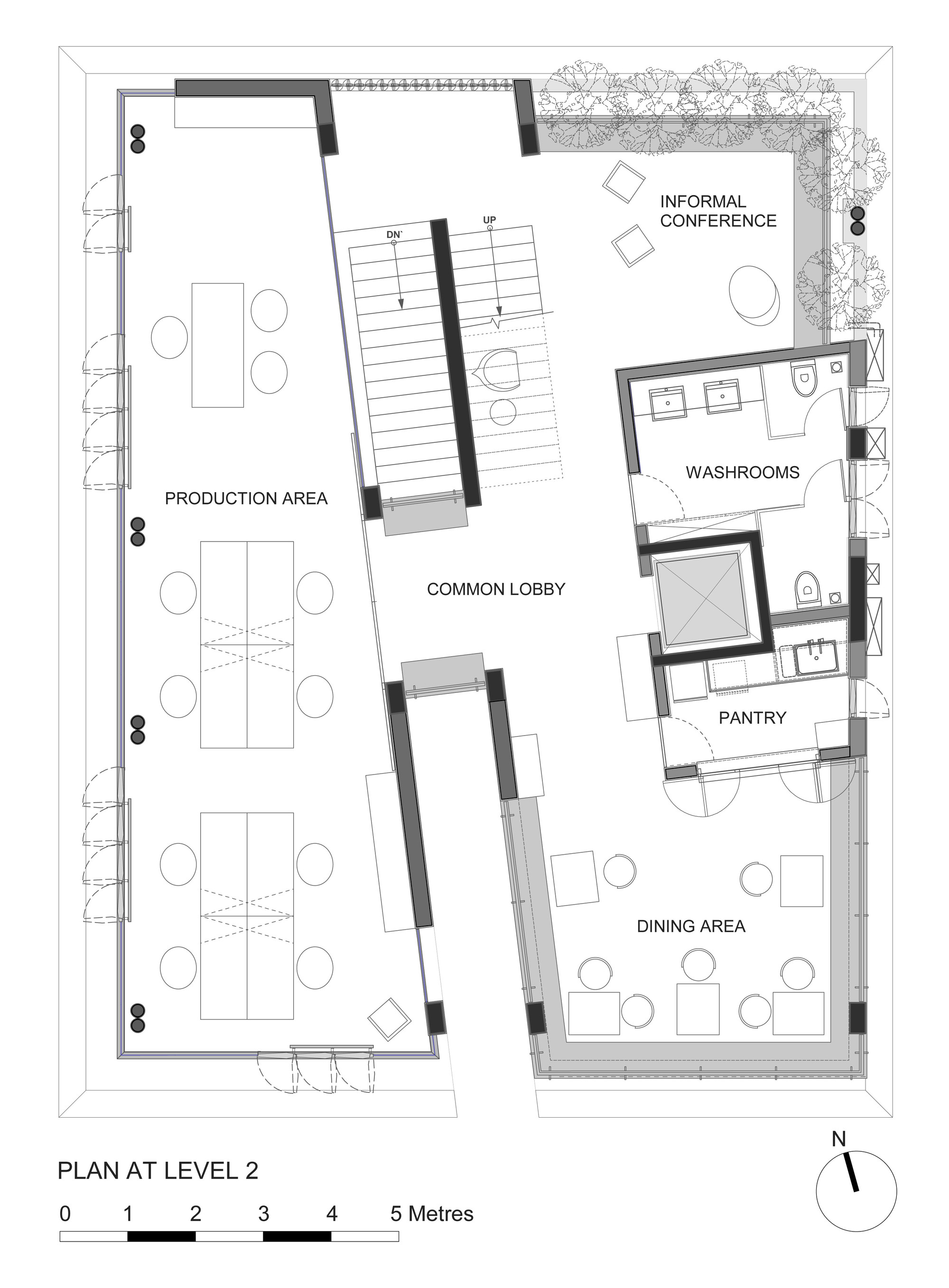 Gallery of nirvana film office sjk architects 18 for Architects office design plans
