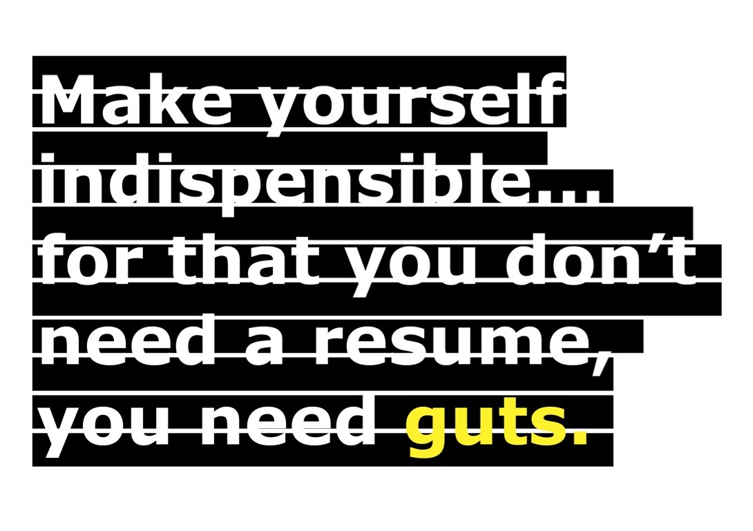 The B-Side: Death to the Resume, Courtesy of Gem Barton