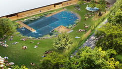 "Herzog & de Meuron Breaks Ground on Public ""Bathing Lake"" in Riehen"