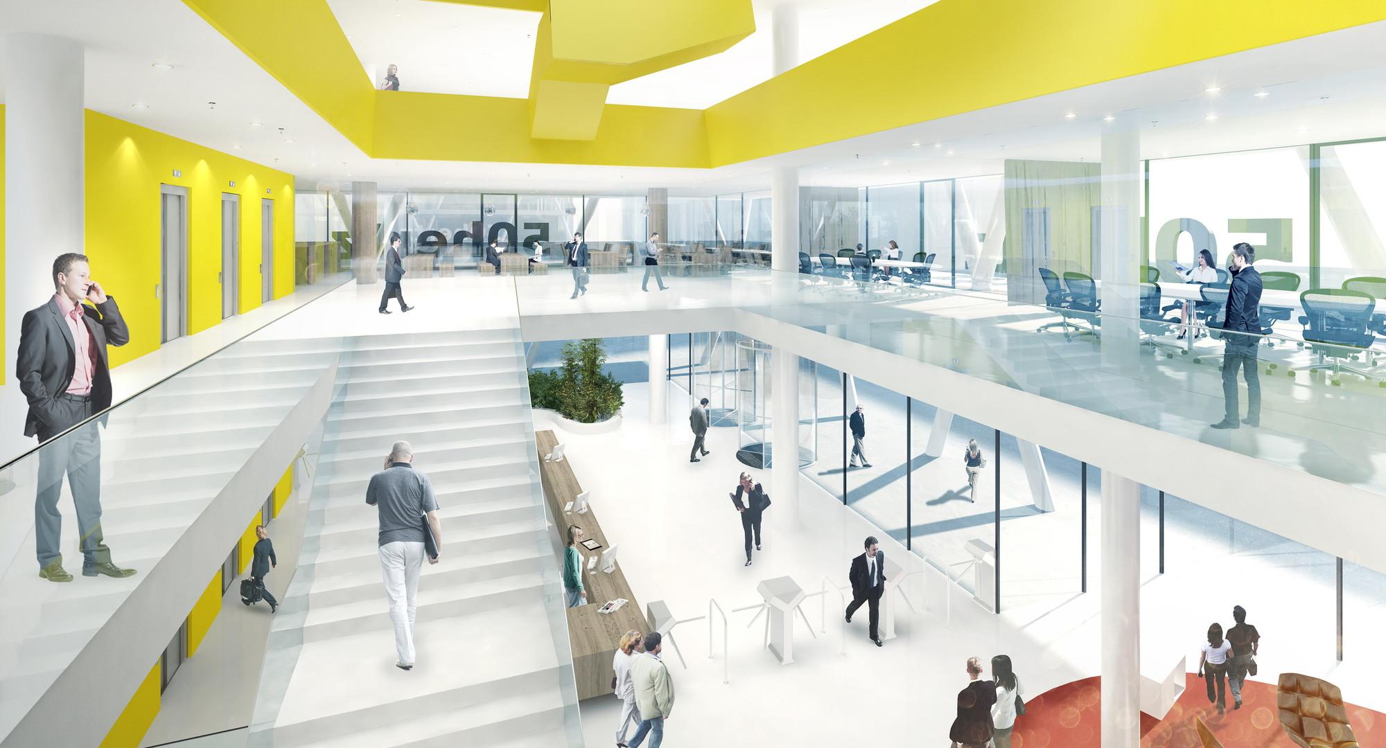 Foyer Architecture Jobs : Hertz headquarters winning proposal love archdaily