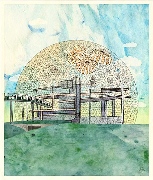 """Arte y Arquitectura: El trabajo de Cole Gerst """"Buckminster Fuller. Poet of Geometry"""""""