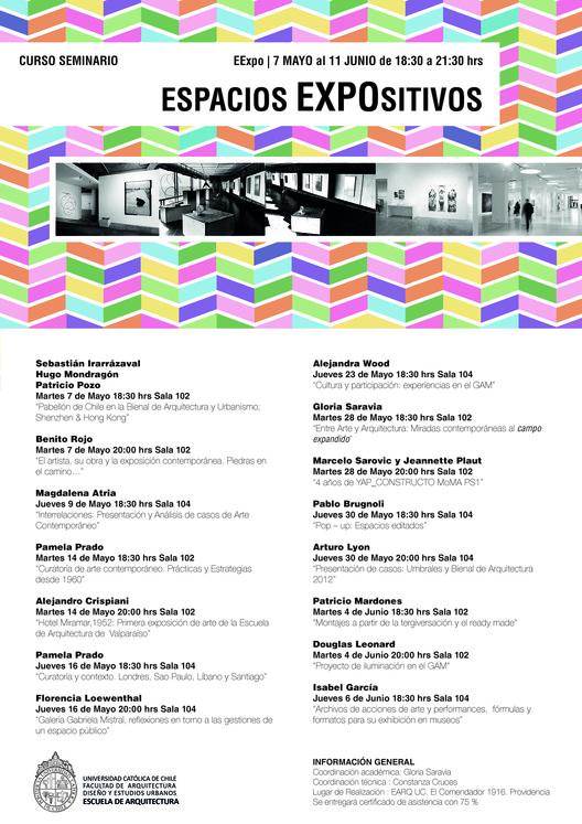 SEMINARIO | Espacios Expositivos . Escuela de Arquitectura UC, SEMINARIO | Espacios Expositivos . Escuela de Arquitectura UC