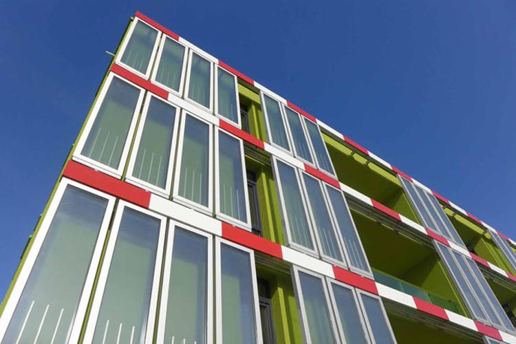 É concluído em Hamburgo o primeiro edifício do muindo alimentado energeticamente por algas, © Arup