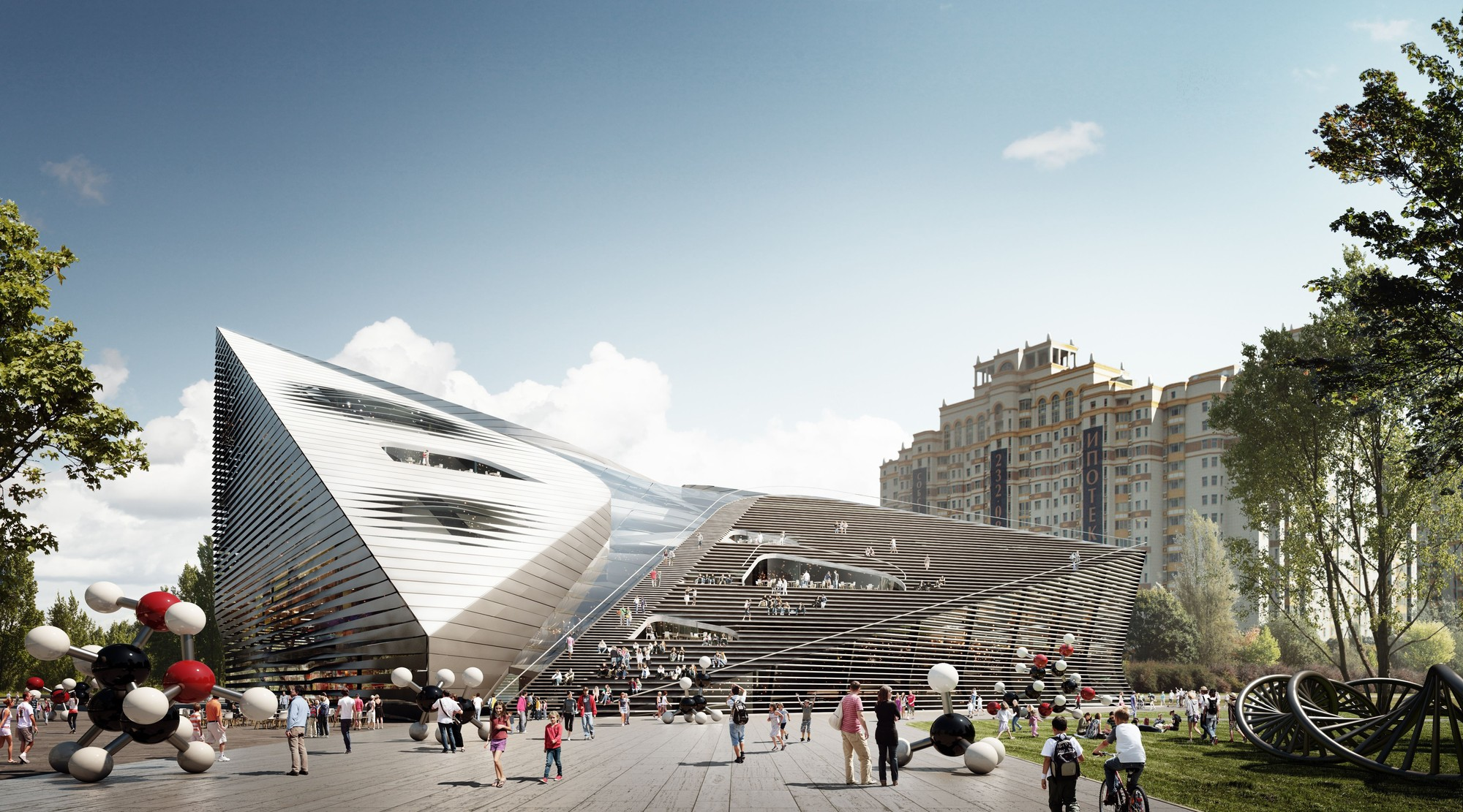 Moscow Polytechnic Museum and Educational Center Competition Entry / 3XN, © 3XN