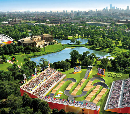 "Is an Olympic Bid Ever Worth It? What if You Lose? , Via the Atlantic Cities ""The would-be BMX track in Douglas Park, from Chicago's Bid Book."""