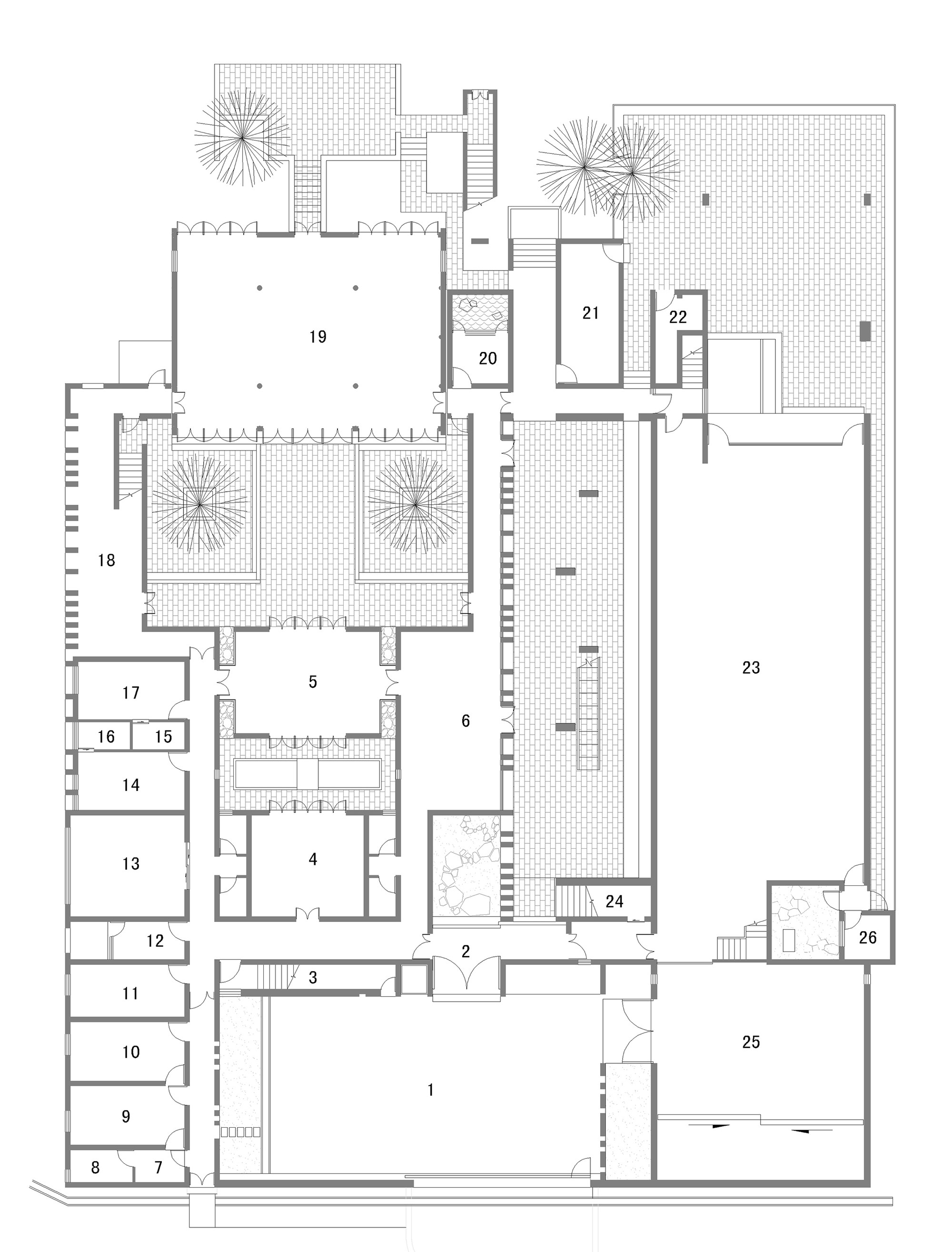 Art studio floor plan design decoration for Studio floor plan ideas