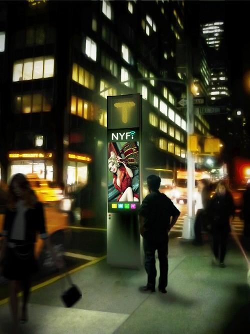 """""""NYFi"""": Uma proposta para reinventar o telefone público em Nova York, Imagem via plataformaurbana.cl"""