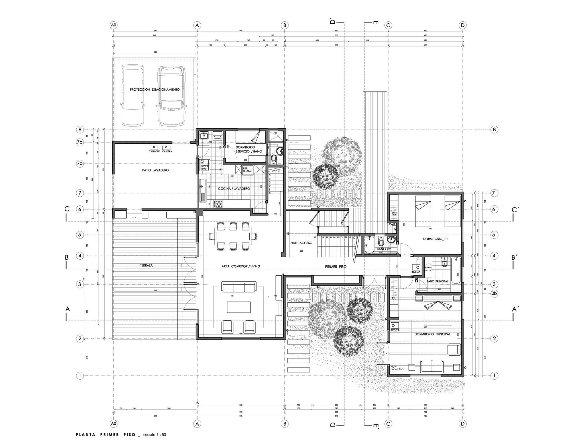 Galeria de casas em frutillar delsante 29 for Viviendas de campo modernas