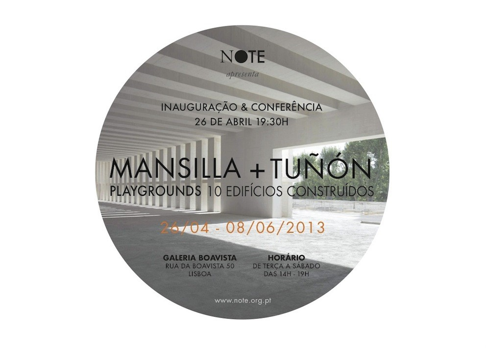 """MANSILLA + TUÑON """"Playgrounds 10 edificios construídos"""" em Lisboa, Courtesy of NOTE"""