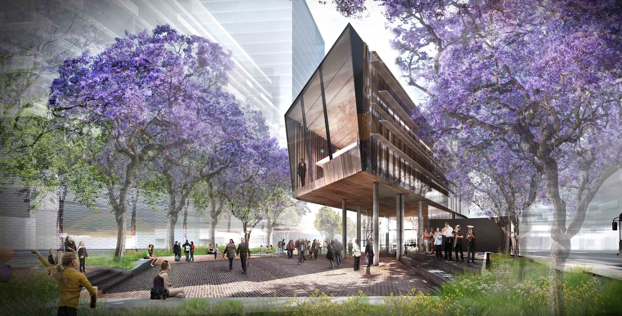 Green Square Library Competition Entry / ASPECT Studios