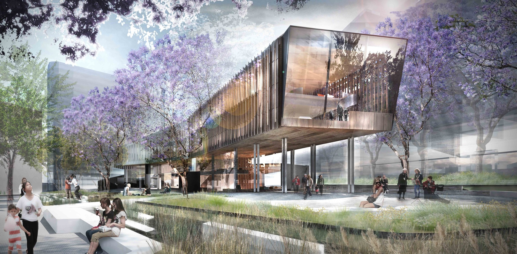 Green Square Library Competition Entry / ASPECT Studios, Courtesy of ASPECT Studios