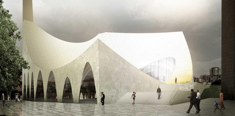 Central Mosque of Pristina Competition Entry / APTUM Architecture, Courtesy of APTUM Architecture