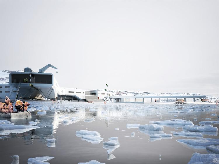 2º Lugar Concurso Internacional Estação Antártica Comandante Ferraz / Triptyque, Rendering by rsi-studio.com