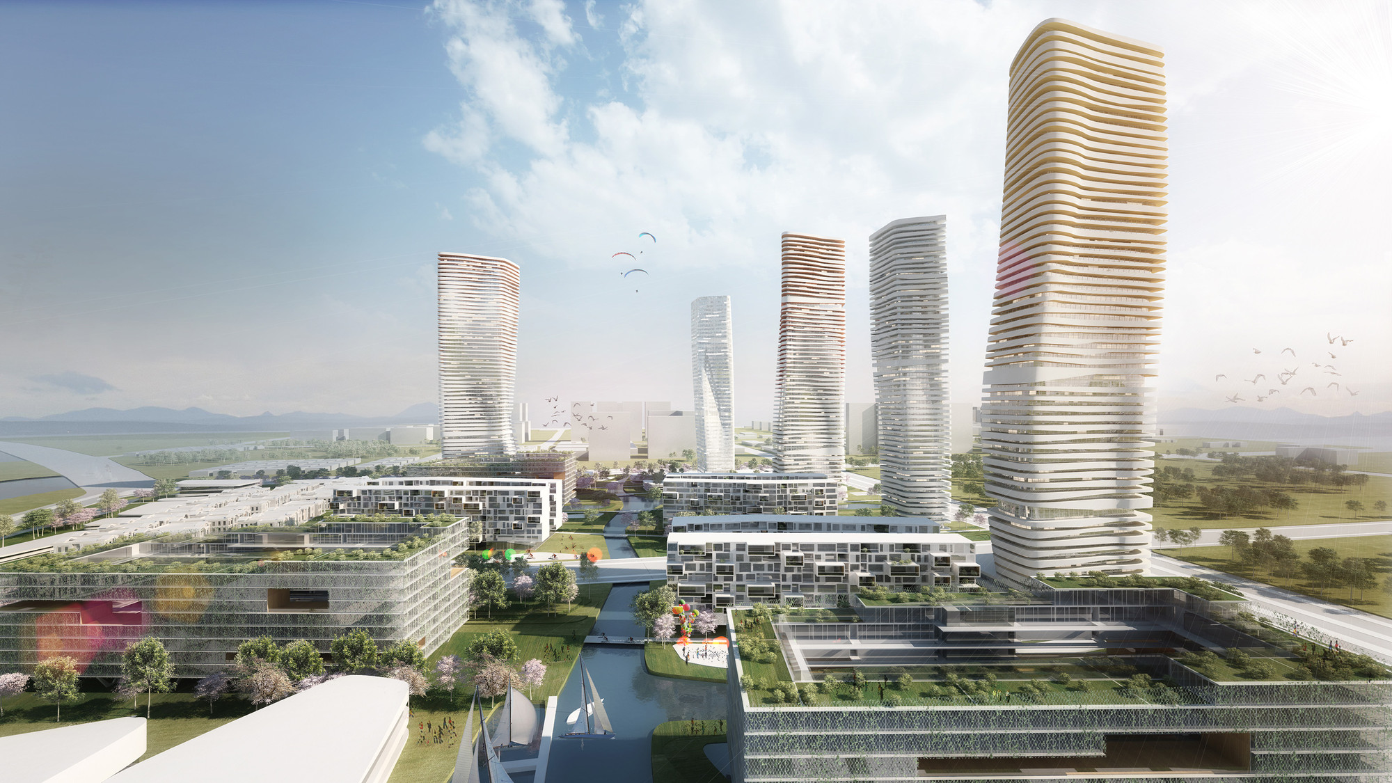 Wuxi Masterplan: Mixed Use Building Complex Proposal / ATENASTUDIO, © ATENASTUDIO